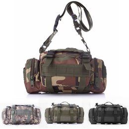 Discount tactical gear bags - Multifunction Tactical Waist Bag Camouflage Hunting Gear Outdoor Waterproof Camping Hiking Shooting Shoulder Bag Sundrie