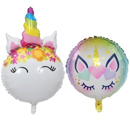 $enCountryForm.capitalKeyWord Australia - Balloon Cartoon Unicorn Horse Head Airballoon Baby Birthday Banquet Hundred Days One Year Old Party Decorate Ball Hot Selling 1 7hy2 p1
