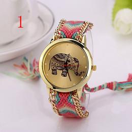 d95ccad59 Reloj de pulsera Reloj de cuarzo tejido de viento nacional. Reloj de pulsera  de bricolaje hecho a mano para Europa y América.