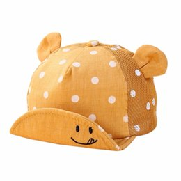 little beanie Australia - Infant Baby Boys Girls Lovely Smile Face Dot Robe Cap Cute Hooded Hat Children Toddler Baby Little Ear Hat 5 Colors
