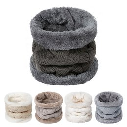 Girls Fashion Scarves UK - New Fashion Winter Scarf For Women Men Collar Warm Thickened Ring Scarf Boys Girls Fluff Soft And Comfortable Velvet Scarves