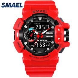 Smael Watches Australia - SMAEL Men 1436 Watch Male Relogios Masculino 50M Waterproof Wristwatch Chronograph Auto Date Watch Sport Quartz Clock