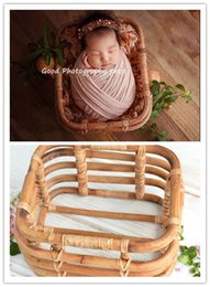 $enCountryForm.capitalKeyWord Australia - Newborn photography prop vintage woven rattan baby picture shot container frame shooting studio props