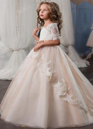 $enCountryForm.capitalKeyWord NZ - Beautiful Girls Dress For Wedding White Beaded Flower Dresses Jewel Neckline Floor Length Lovely Princess Girls Pageant Gown Party Gowns