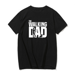 funny dad t shirts UK - The Walking Dad Fathers Day Gift Men's Funny T-Shirt T Shirt Men 2019 New Short Sleeve Cotton Novelty Top Tee Camisetas Hombre