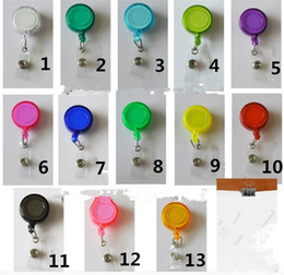RetRactable lanyaRds online shopping - Retractable Lanyard ID Card Badge Holder Reels with Clip Keep ID Key Cell phone Safe