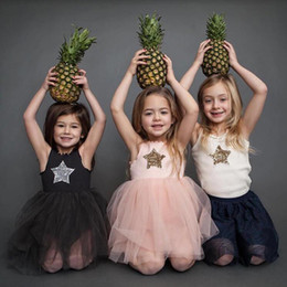 bohemian style clothing for children Australia - Summer Brand 2019 Kids Dresses For Girls Casual Wear Bling Star Girl Dress Children Boutique Clothing Tutu Baby Girls Clothes