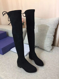 sexy style high knee boots Australia - Classic European Style woman Shoes, Ladies'Shoes, high Boots, sexy boots Stitching low heel real leather sexy boots ,huahui