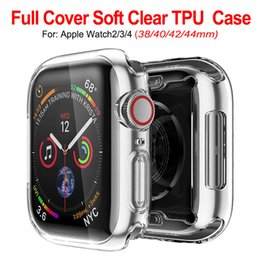 ultra slim smart watch NZ - Ultra Slim Transparent Clear Soft TPU Rubber Silicone Protective Cover Case For Apple Watch Series 4 3 2 1 40mm 44mm 38mm 42mm