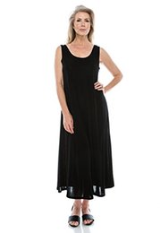 $enCountryForm.capitalKeyWord UK - Jostar Women's Stretchy Tank Long Dress Sleeveless Plus Size - Made In USA