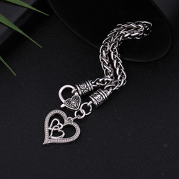 Heart Shaped Chains For Couples Australia - Fishhook Wholesale Retail Fashion Fashionable New 2018 Fasion Jewery Love Couple Heart Shaped Chain For Bracelets