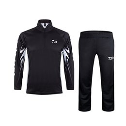 837358d74ffd Summer Men Quick Dry Breathable Fishing Suit Long Sleeves Shirts Pants  Hiking Cycling Outdoor Sportwear Sunscreen Clothes