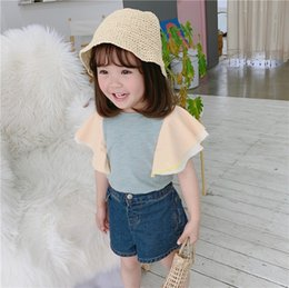 $enCountryForm.capitalKeyWord Australia - Summer kids blouse girls patchwork color multilayer falbala fly sleeve shirt children princess tops 2019 new baby girl clothes F7213