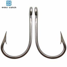 Stainless Fish Hooks Australia - Fishing Fishhooks Easy Catch 50pcs 7691 Stainless Steel Sharp Big Thick Tuna Fishing Hooks Size 3 0 4 0 5 0 6 0 7 0 8 0 9 0
