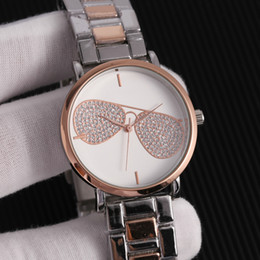 Cheap rhinestone watCh online shopping - mk watch for women Fashion Rhinestone Diamond womens luxury watches mk rose gold watch Quartz Watches cheap American watch