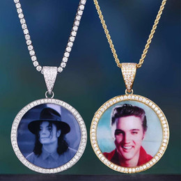 Necklaces Pendants Australia - Hip Hop Iced Out Custom Picture Pendant Necklace with Rope Chain Charm Bling Jewelry For Men Women
