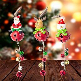 $enCountryForm.capitalKeyWord Australia - Christmas Decoration Iron Art Christmas Bells Pendant Cartoon Santa Snowman Tree String Charm Pendant