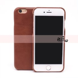 $enCountryForm.capitalKeyWord Australia - iPhone 6s Plus Cell Phone Case Genuine Leather Hard Backcover DOKDO Slim Fit Protective Case for iPhone 6 6s (COFFEE WAX)