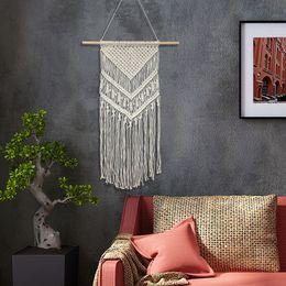 $enCountryForm.capitalKeyWord Australia - 2019 new 70X50CM Macrame Wall Art Handmade Cotton Wall Hanging Tapestry Bohemian Tapestries Hanging Home Decoration Best Gift Wall Carpet