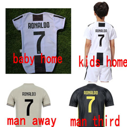 18 19 juventus soccer jerseys kids designer clothes RONALDO DYBALA baby boy  girl adult Maillot De Foot hoem away third football jerseys 2479bae8d
