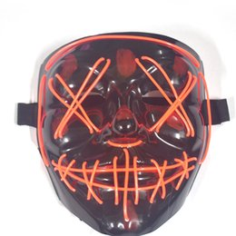 flash dancing Australia - Amazon LED Light Mask Ghost Step Dance Performance Halloween Mask Tremble V Word Night Flash Cold Light