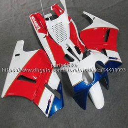 Fairing 1987 Australia - Custom+Screws ABS red white Fairing For Honda VFR400R NC30 V4 1987 1988 motorcycle panels