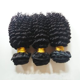african american hair weaves Australia - Cheap price African American hair weaves Brazilian virgin human hair curly Malaysian Indian remy hair 3 4pcs lot Keep scale Soft and smooth