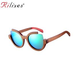 01ae209493e36 Wholesale Wooden Sunglasses Australia - RILIXES Bamboo Polarized Sunglasses  Men Polarized Wooden Sun glasses Women Brand