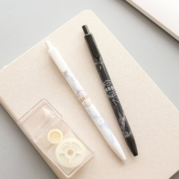 Stationery Australia - 36 pcs Lot Marble textures gel ink pen Black color 0.5mm roller ball pens for signature Stationery Office School supplies