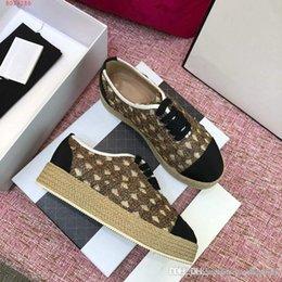 $enCountryForm.capitalKeyWord Australia - NEW casual shoes women designer sports shoes grass weaving Thick bottom fashion mixed color original packaging box