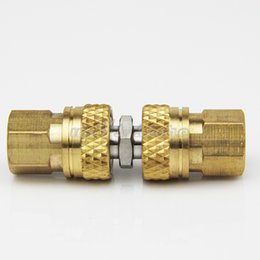 $enCountryForm.capitalKeyWord Australia - UP100® PCP Airforce Paintball Stainless Steel Double Plug with Quick Disconnect Coupler Connector and Other Hose Combination