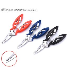 $enCountryForm.capitalKeyWord Australia - wholesale Fishing Plier Steel Tackle Lure Hook Remover Line Cutter fishing scissors outdoor activities ABS handle 2CR13 material free shipp