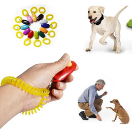 media keys Australia - Pet Trainer Pet Dog Cat Training whistle Dog Clicker Adjustable Sound Key Chain And Wrist Strap Doggy Train Click DHL Free Shipping