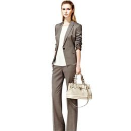 Women Velvet Clothes Australia - women suits pants Custom business lady pants suit 2 piece set gray suit jacket office lady gap jacket female clothing
