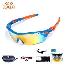 643b97ad4e 2017 OBAOLAY 5 Lentes Gafas de bicicleta polarizadas antiniebla TR90  Material Deportes Gafas Gafas de bicicleta Ciclismo gafas de sol rojo azul  # 110078