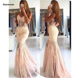 $enCountryForm.capitalKeyWord Australia - Sexy See Through Corset Mermaid Prom Dresses New 2019 Appliques Lace Beads Sweetheart Strapless Sexy Arabic Long Evening Gowns Abendkleider