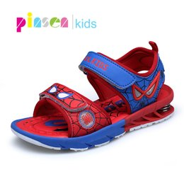 Discount pointed shoes for boys - Pinsen 2019 Spiderman Kids Sandals For Boys Sandals Fashion Summer Children Shoes Baby Boy Closed Toe Slippers Sandalias