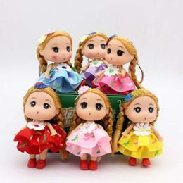 """$enCountryForm.capitalKeyWord Australia - 3.5"""" 9cm Little Girl Keychain doll toy wedding cute mini keychain kawaii doll toy for children decoration"""