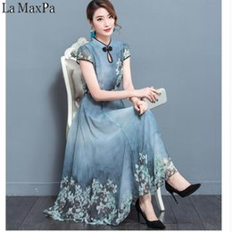 36a9f53566952 2019 New Summer Chiffon Dress Robe Noel Elegant Vintage Chiffon Party  Dresses 3xl Plus Size Female Retro Chinese Style Clothing Y19053001
