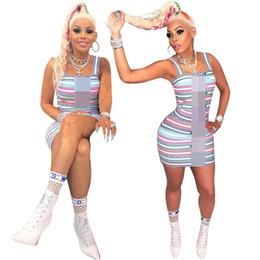 Evening Straight Gown Australia - Bodycon Dresses 2019 Brand Fashion Luxury Designer Women Dresses Clothing Stripe One-Piece Summer Short Skirts Party Evening Dress C61907