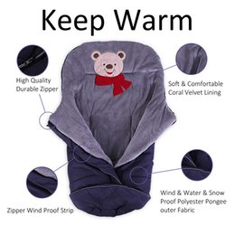 winter sack baby UK - Winter Baby Sleeping Bag for Stroller Warm Envelop Sack with Footmuff for Wheelchair Newborn Soft Windproof Cocoon for Pram