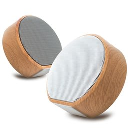 Aux Stereo System Australia - Wood Grain Wireless Bluetooth Speaker Portable Mini Subwoofer Audio Gift Stereo Loudspeaker Sound System Support TF AUX USB A60