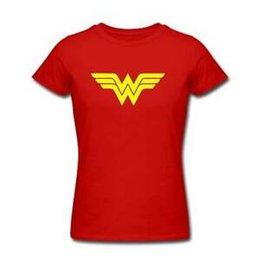 Wonder Women costumes online shopping - Wonder Woman Tshirt Womens Ladies KIDS Super Hero Costume Party Top Retro Arrive
