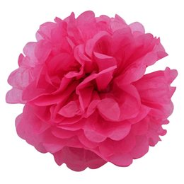 China rtificial Decorations Artificial Dried Flowers Pink Round DIY Tissue Paper Pompoms Flowers Balls Size 10 15 20cm 25cm Kids Birthday Party... cheap paper pompom flower decorations suppliers