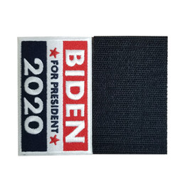 Wholesale usa american flag clothing resale online - Trump Biden Magic Sticker American Election Embroidery Stickers USA Flag Striped stars Sticker For Clothes And Bag cm LJJA4105