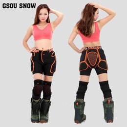 snow padded shorts 2019 - 2016 GSOU SNOW Protective Hip Pad Shorts+Protective Knee Pads Snowboarding Impact Protection sets for Kids Adult Men Wom