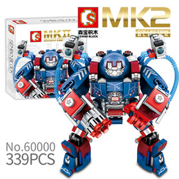 toy building bricks brands Australia - Sembo 60000 MK2 Armor Series Iron Man Super Hero DIY Building Blocks Bricks Compatible Brand Model Toy For Children Gift