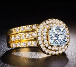 $enCountryForm.capitalKeyWord NZ - Wish women ladies fashion jewelry 925 silver 18K gold plated lovers ring party wedding engagement birthday Christmas festival gift