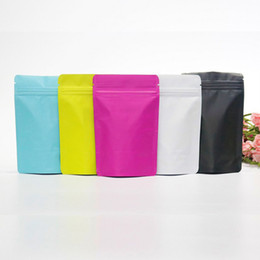 $enCountryForm.capitalKeyWord UK - 1000pcs Frosted Colorful Stand Up Aluminum Foil Bag Zip lock Bag Food Tea Coffee Packaging Bags pouches
