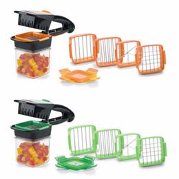 Multi Slicer Chopper Cutter Australia - Slicer Nicer Chopper Dicer Quick Set 5 In 1 Vegetables Fruits Cutter Food Multi-Function Salad Onion Vegetable Cutter